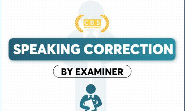 SPEAKING CORRECTION BY EXAMINER